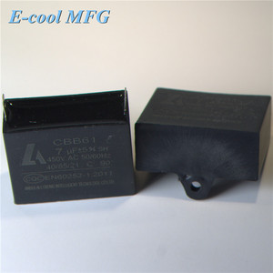 Cbb61 Aluminum Electrolytic Capacitor for Fan Capacitor 6.5UF 450V 50/60Hz