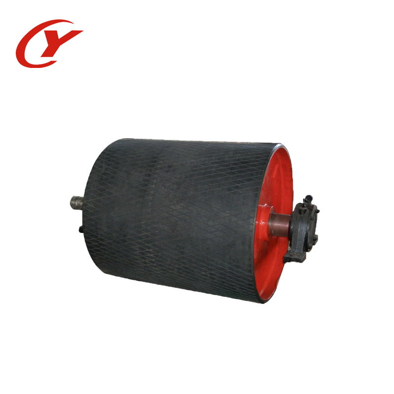 Conveyor belt idler roller Drum head Pulleys for sale