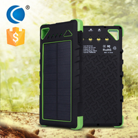 Mobile charger phone Factory new design solar powerbank/waterproof 16000mah mobile solar charger