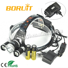 Boruit Top Selling Cree L2 Headlamp RJ-5000 with Charger and Battery