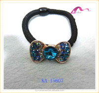 Fashion hair ornament elastic hair bands with rhinestone