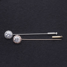 cubic zirconia charms stick pins for hijab scarf lapel women jewellery
