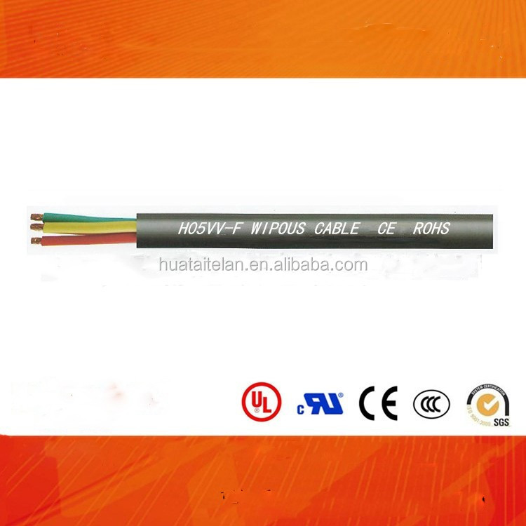 H05VVF cable PVC Insulation and sheath round flexible building power cable