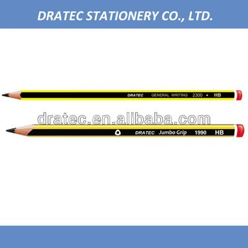 Stripe pencil, wooden pencil HB, with dip end