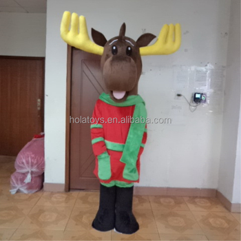 Hola christmas costume/reindeer costume for adult/mascot costume