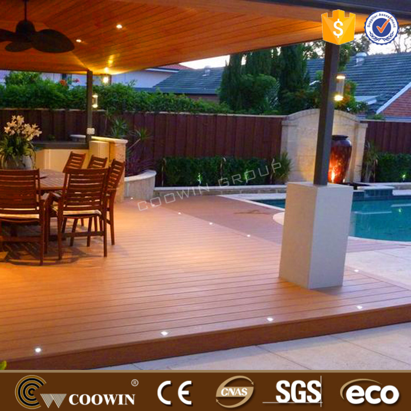 COOWIN embossed anti-fading WPC decking