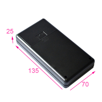 Custom handheld plastic box enclosure electronic with 2AA battery case