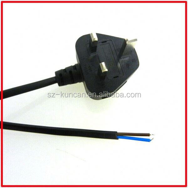 6 feet computer/monitor power cord,bsi approved 13 amp plug