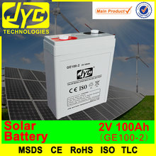 most popular solar battery 2v 100ah
