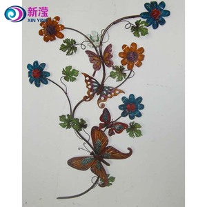 Wrought iron handicraft home art metal flower wall decoration