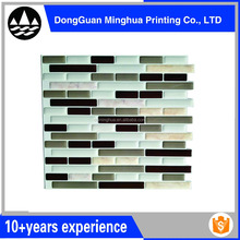 Wholesaler Home decorative marble waterproof 3d wall tile sticker