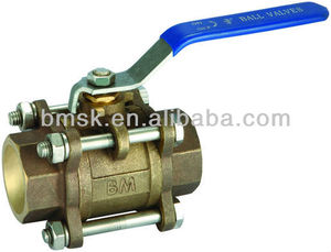 3PCS Socket Weld Bronze Ball Valve(material B62-C83600)