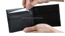 Alibaba Stock Two Tone Simple Unisex Money Clip Card Wallet Leather