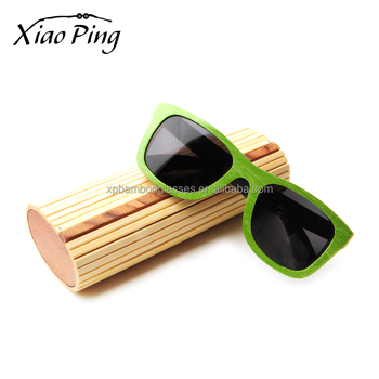 custom logo bamboo unique glasses sunglasses case