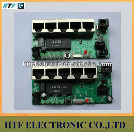 high quality OEM/ODM 4p 10/100M LAN+1P WAN PPPoE Network NAT ethernet Router Lay2 PCBA Module