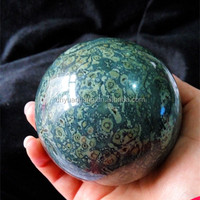 Charming natural malachite stone spheres,polished stone balls for fengshui,crystal stone decorative balls