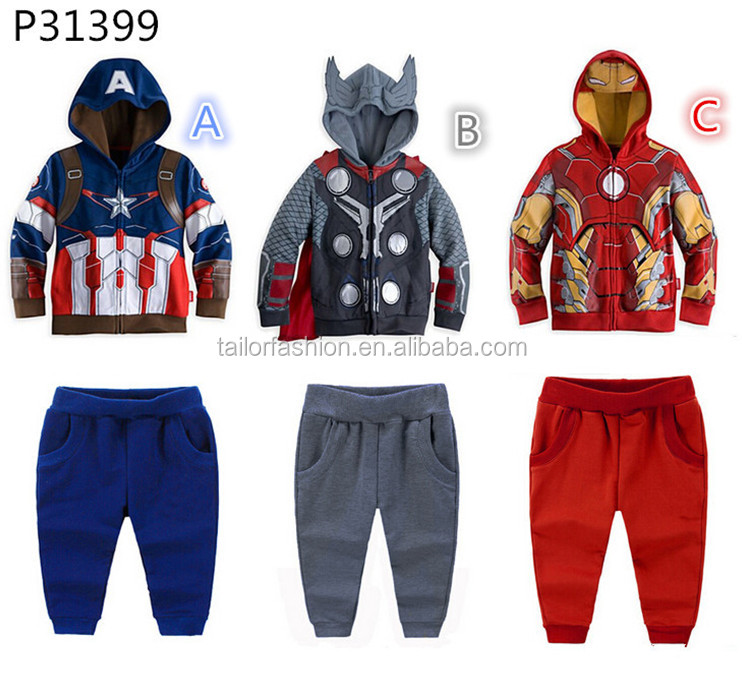 TF-G01151107002 <strong>Kids</strong> super hero United States captain Avenger iron man the boy children cartoon set