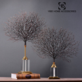 Home Decorative 3D metal craft tree ornaments with crystal