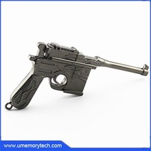 Cheap products to sell usb flash memory drive metal gun cool pen drive stick