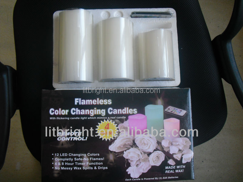 Ivory moving wick led flameless candle,LED Candle Type