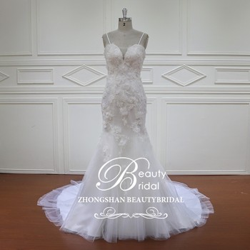 HD011 mermaid bridal gown cathedral train