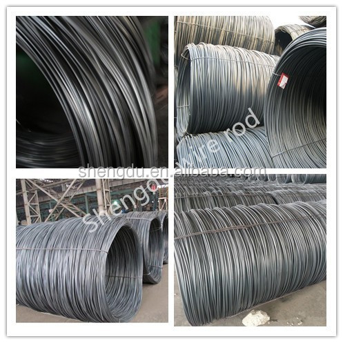high yield strength 5.5mm steel wire rod in coil Grade sae1006/1008 alibaba