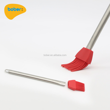 BBQ Grill Silicone Basting Oil Brush And Pastry Brush With Stainless Handle And Silicone Bristle