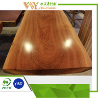 sapele live edge slab dining table