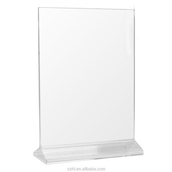 acrylic menu holder/5x7 inches slant back acrylic sign holder