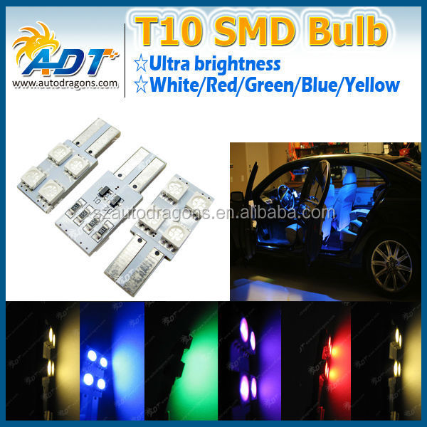 LED 4-SMD dome reading door License plate map bulb white blue red yellow green bulb car light