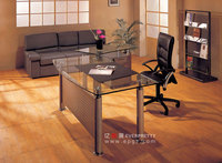 High Quality Modern Glass Top Executive Office Center Table Design with Steel Frame