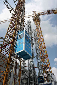 Tower crane passenger and material hoist for tower crane machinery
