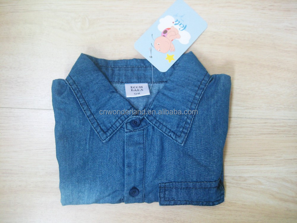 Wholesale summer fashion soft denim cute short sleeve baby boy rompers