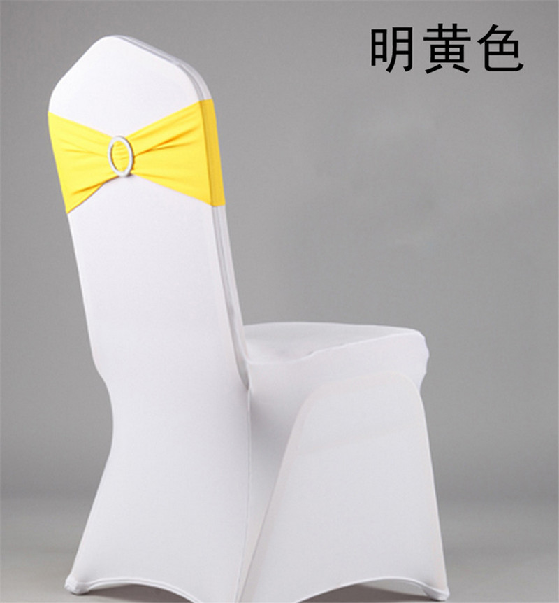 High Quality dark green Spandex chair band with buckle/ spandex sash/chair sash for chair cover wedding decoration