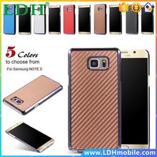 DHL Wholesale Note 5 Fabric Carbon Fiber Slim Hard Back Case for Samsung Galaxy Note5 N920 Fashion Wave Phone Cover 100pcs/lot