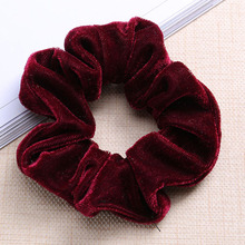 Velvet Hair Accessories Winter Ponytail Holder Big Size Elastic Hair Band Hair Scrunchies Bulk For Girls Women
