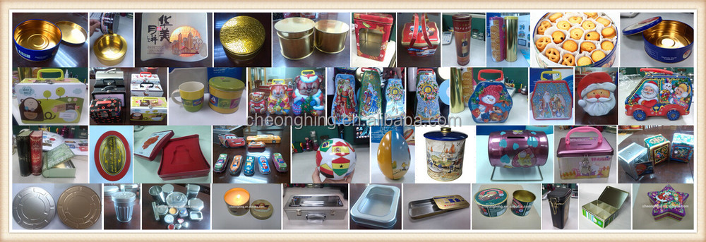 Customize Big oval tin box