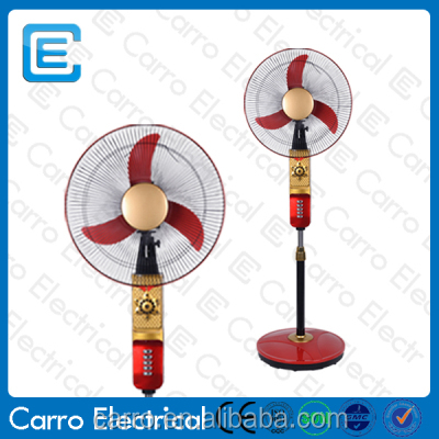 Modern design energy saving battery operated rechargeable standing fan for sale