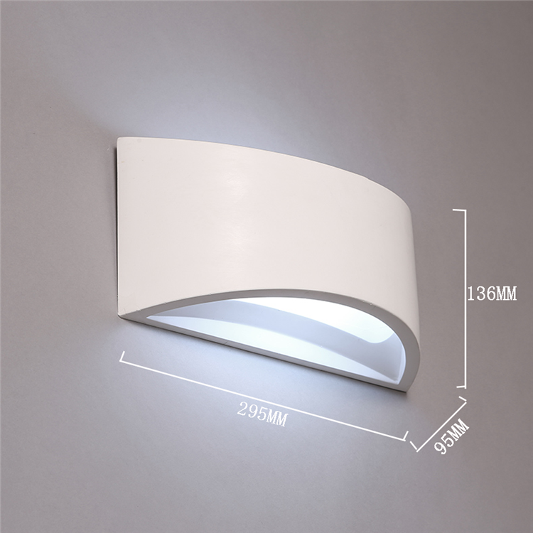 Wall-Light-MG-3194 White Indoor Gypsum E14 E27 Plaster Recessed Wall Light Indoor Lighting