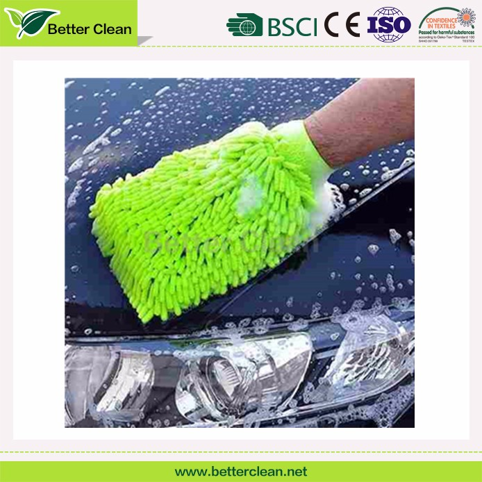 hot sales Chenille car cleaning glove microfiber wash mitt