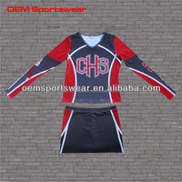 Dye Sublimation cheering sexy dance uniform
