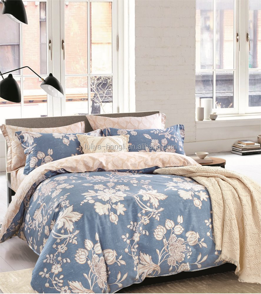 alibaba China newest design 100% cotton bedsheet bedding <strong>sets</strong> in twin full size