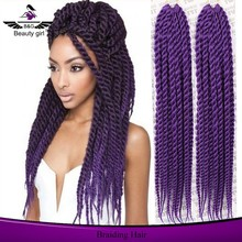 High quality angels 100% synthetic hair products purple braiding hair angels synthetic hair jumbo braid