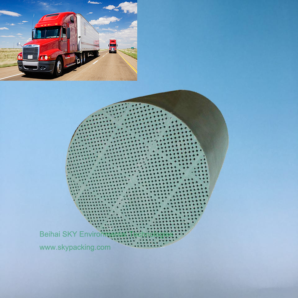 Honeycomb Ceramic SiC DPF substrate for removal PM and soot from off-road Truck
