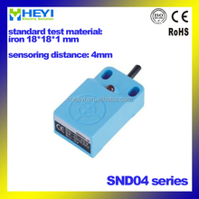 HEYI offering SND04 18*18*36 Non-flush Square type inductive proximity sensor