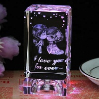 Custom 3D Laser Engraved Crystal Cube with Image Inside