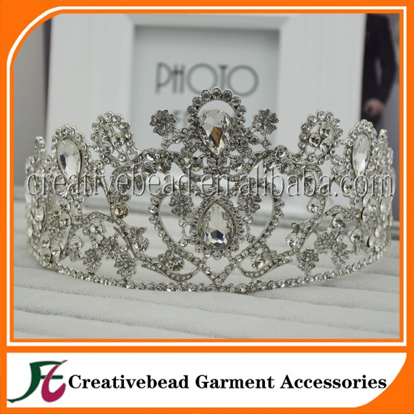 2017 Design wholesale bridal wedding rhinestone crowns And Crystal Metal Crown Tiaras In Bulk