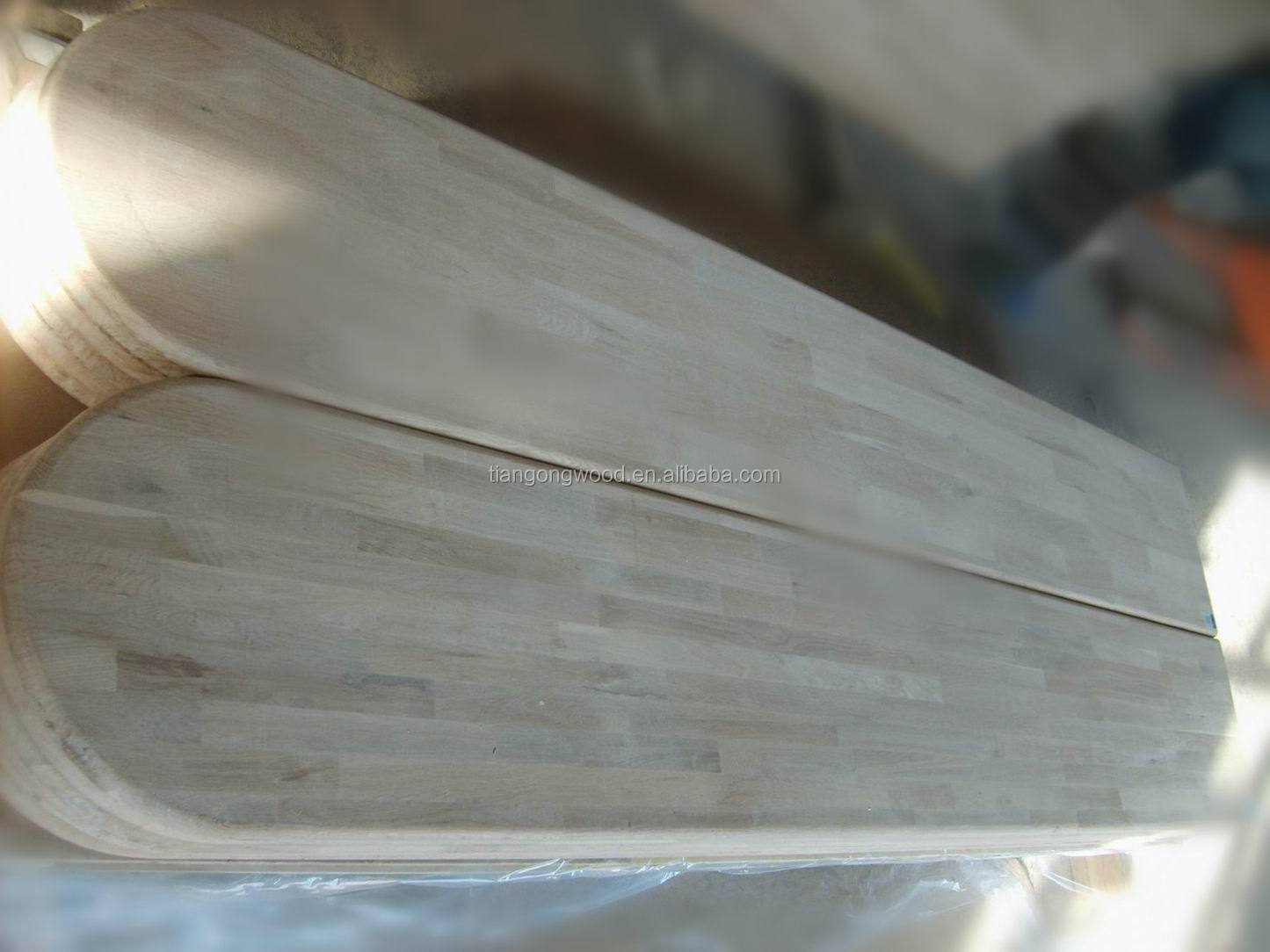 Oak finger jointed panels as worktop