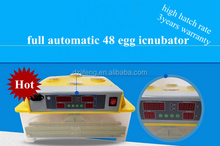 48 eggs automatic Mini egg incubator for sale with intelligent PID Control