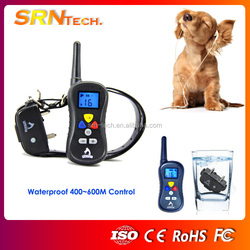 PST 018 Waterproof 400~600 M christmas LED rechargeable dog anti bark shock collars